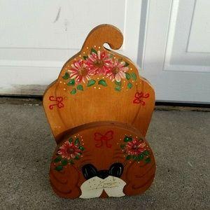 Dog Doorstop Adorable Wooden wood Decorative Bin10